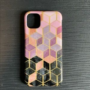 Casely Geo Rose Gold Marble iPhone 11 Case